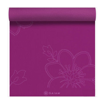 Gaiam Mat Printed Bloom In Fushia