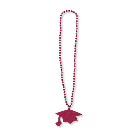 CreativeC Grad Necklace Burgundy 33""