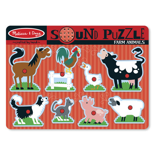 M&D Farm Animals Sound Puzzle