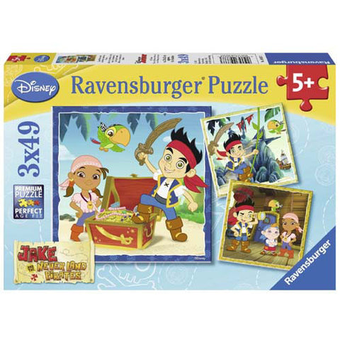 Ravensburger 3x49pc Jake&Neverland Pirat
