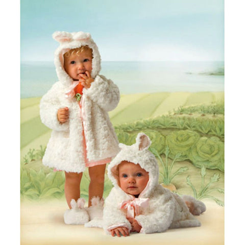 Kids Preferred White Cuddle Coat 6-12 mo