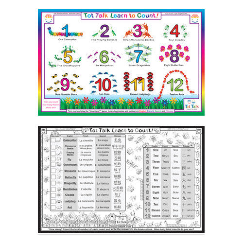 Tot Talk Numbers Counting Bugs Placemat