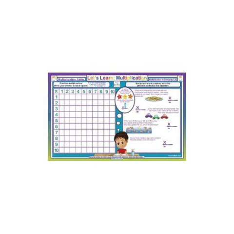 Tot Talk Multiplication Placemat