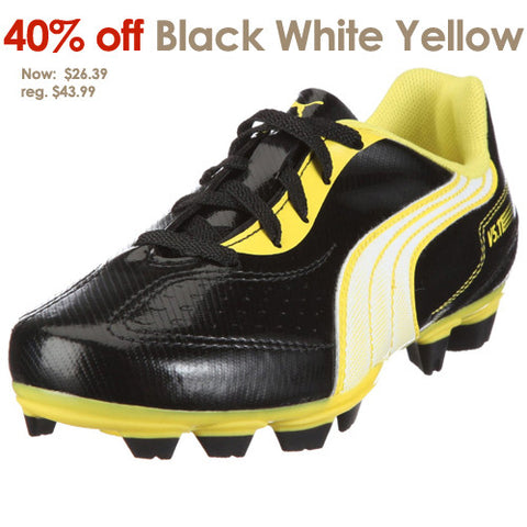 Puma V5.11 I FG JR Black White Yellow 5.0