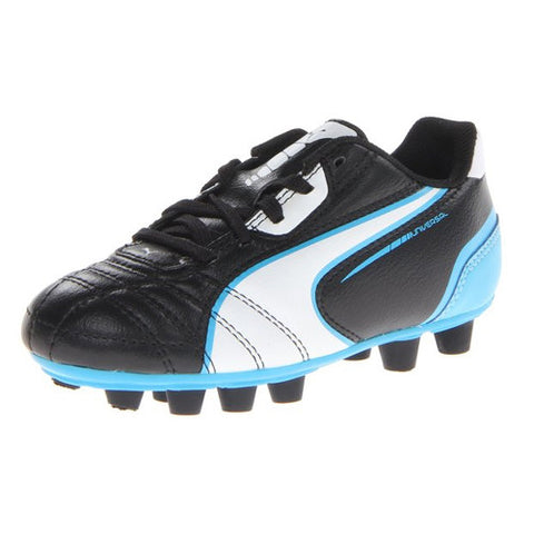 Puma Universal FG JR Black White Fluo Blue 2.5