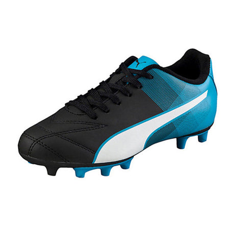 Puma Kids Adreno II FG JR Black White Atomic Blue 12.0 Youth