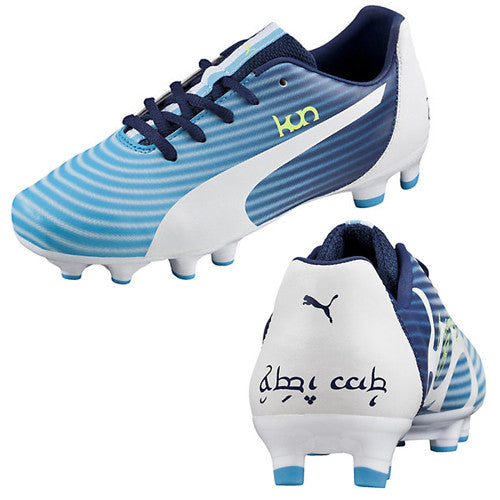 Puma Kun 16FG Jr Fluo Blue White Yellow Black 6.5