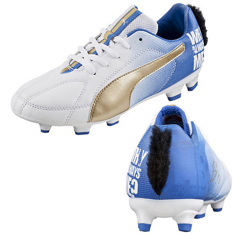Puma MB 9FG Jr Balotelli Team White Gold Blue 4.5