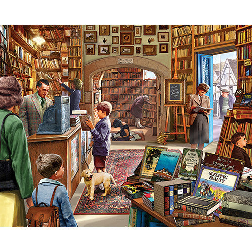 White Mountain 1000pc Old Book Shop