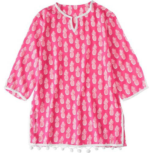 SnapperRock Hot Pink Pineapples Kaftan 04