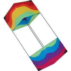 Premier 36In Wavy Rainbow Box Kite