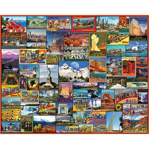White Mountain 1000pc Best Places in Ame