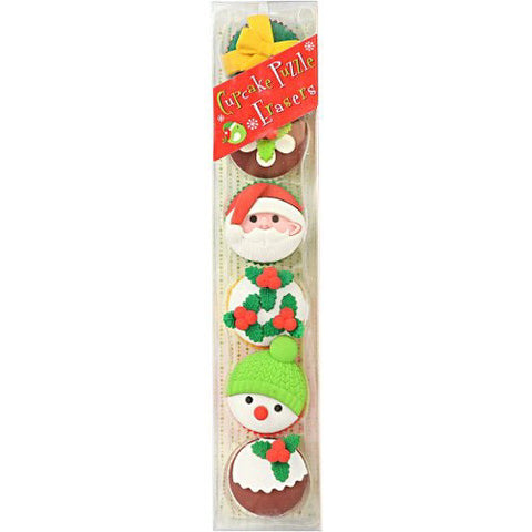 International Christmas Cupcake Eraser