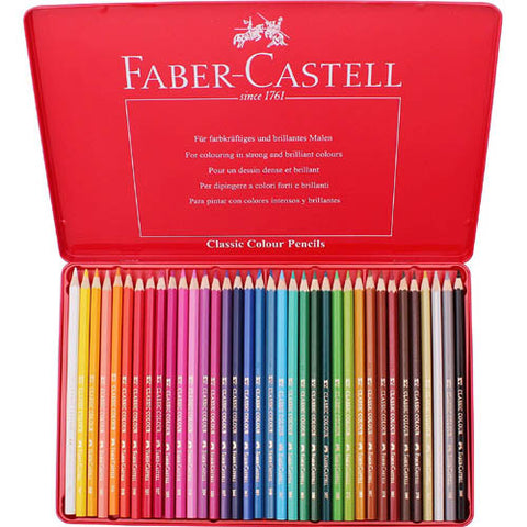 Classic Color Pencil Tin Set