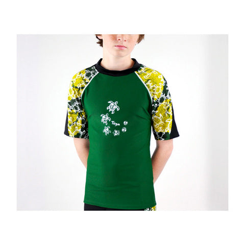 Tuga Boys SS Off Shore Rashguard Malachite 12-18 months