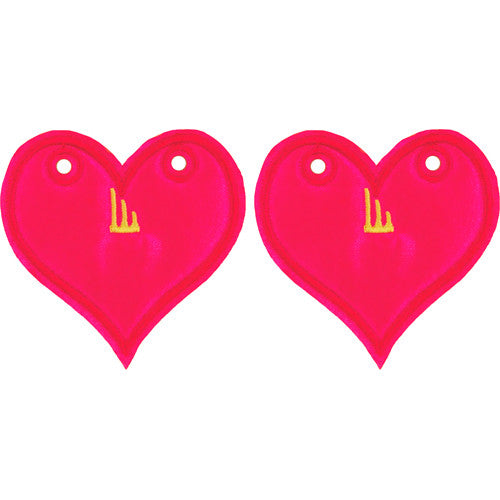 Shwings Pink Neon Heart Shaped