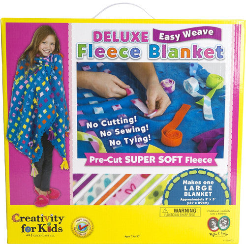 Creativity Deluxe Easy Weave Fleece Blan