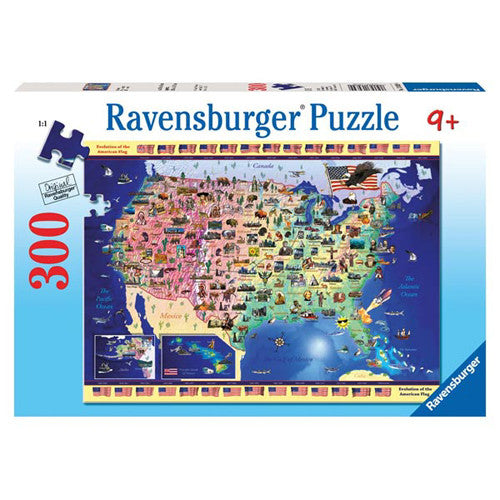 Ravensburger 300pc USA Map Puzzle