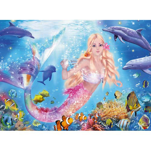 Ravensburger 100pc Mermaid & Dolphins