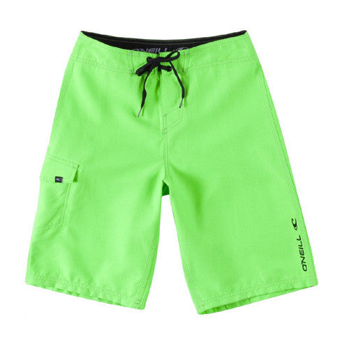 O'Neill Boys Solid Santa Cruz Bright Green 14