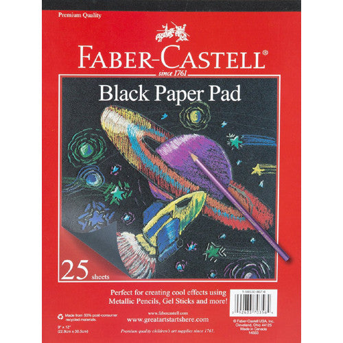 Faber Castell Black Paper Pad 9x12