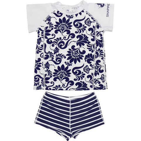 SnapperRock Rash+Boy Short Navy Brocage 04