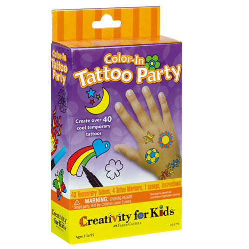 Creativity Color-In Tattoo Party