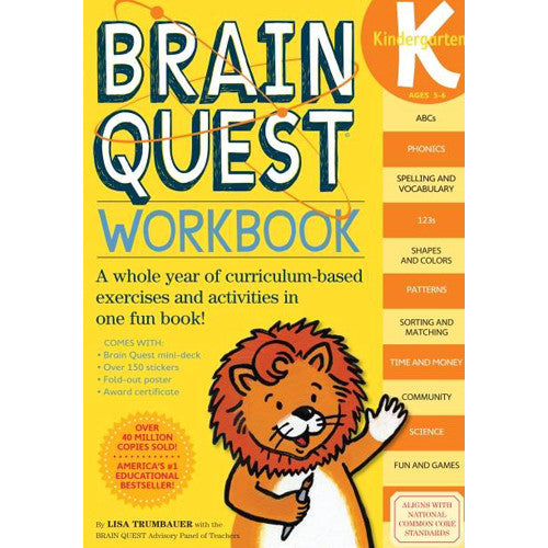 Workman Brain Quest Workbook Kinder