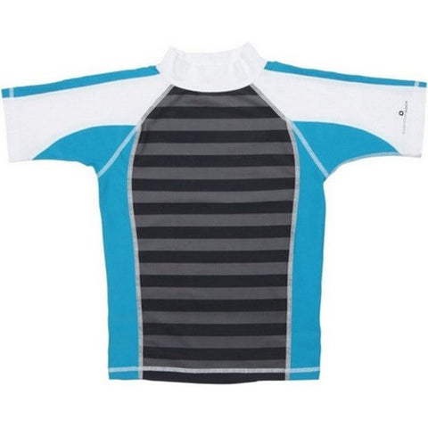 SnapperRock SS Rashguard Grey Turq Strip 04