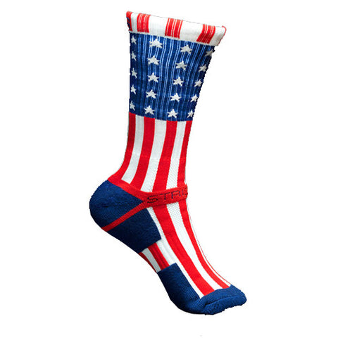 Strideline Socks S Collection Patriot Red White Blue One Size