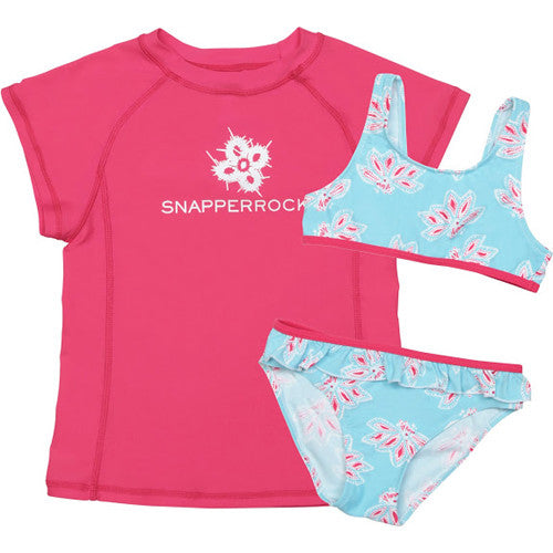 SnapperRock 3pc Bikini+Rash Ocean 10