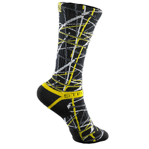 Strideline Socks S Collection Black Yellow One Size