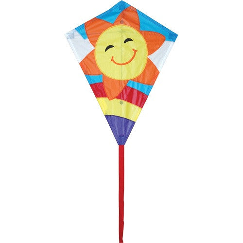 "Premier 25"" Smiley Sun Diamond Kite"