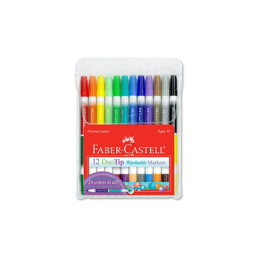 Faber-Castell 12 DuoTip Washable Markers
