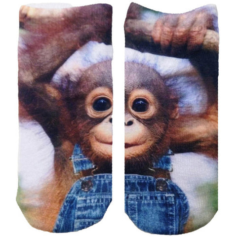 Living Royal Monkeying Around Ankle Sock
