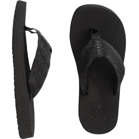 Reef Womens Sandy Sandal Black Black 7.0