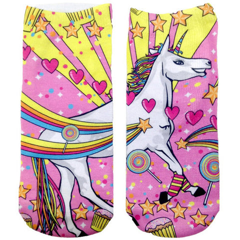 Living Royal Unicorn Ankle Socks