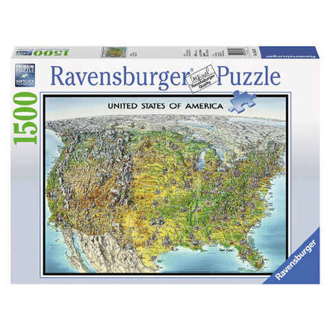 Ravensburger 1500pc USA Map