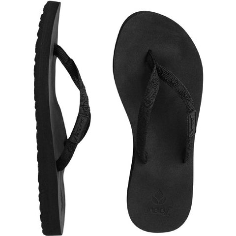 Reef Womens Ginger Sandal Black Black 6.0