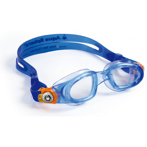 AquaSphere Moby Jr Swim Goggles Clear/Blue