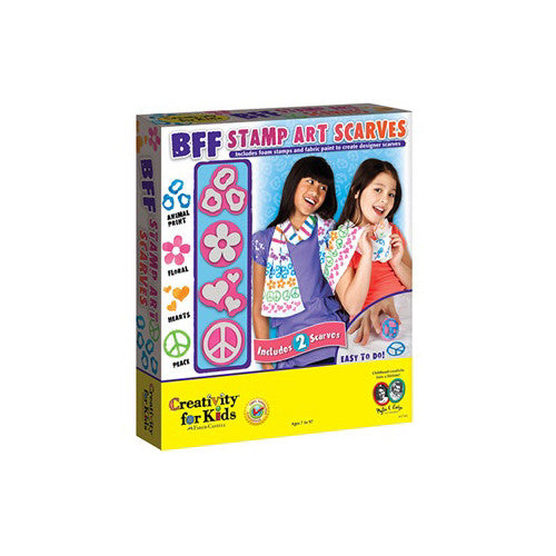 Creativity BFF Stamp Art Scarves