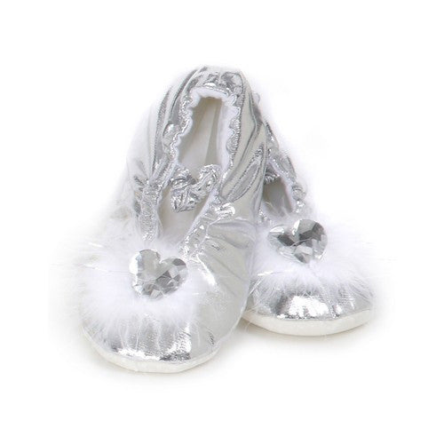 Creative Silver Large Princess Slippers