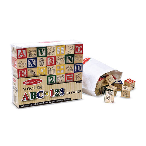 M&D A-B-C Wood Alphabet Block