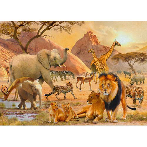 Ravensburger 1000pc African Wildlife