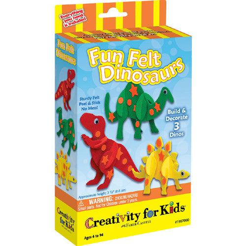 Creativity Fun Felt Dinosaurs