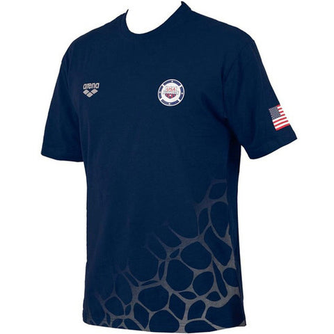 Arena Team USA T Shirt Blue MD