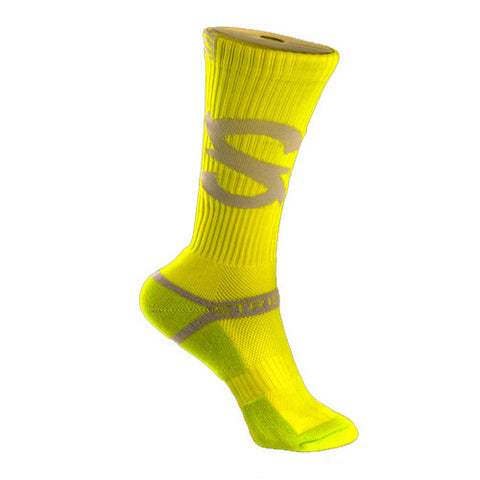 Strideline Socks S Collection Neon Yellow One Size