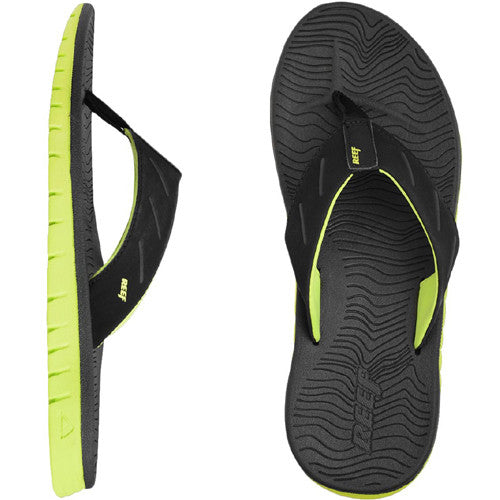 Reef Men Rodeoflip BMR Black Lime Green 12.0