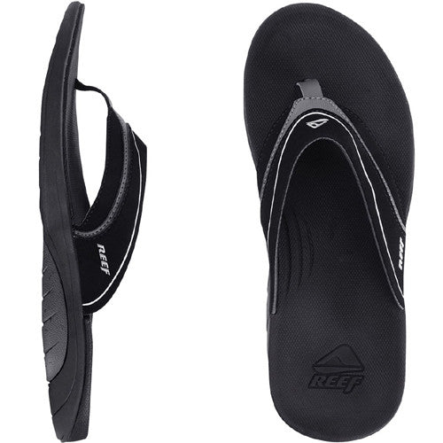 Reef Men Stinger Black Silver 8.0