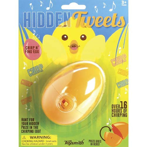 Toysmith Hidden Tweets Plastic Sound Egg